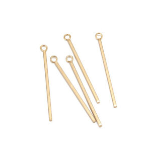 20pcs Stainless Steel Gold Stick Pendent DIY Charms for Earrings Necklace Making