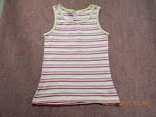 STRIPED Vest top from Dunnes In Green White Pink and Orange Sleeveless Top FAB !