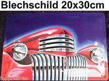 Chevrolet Chevy US-Car Oldtimer USA Blechschild 20x30cm Deko Bar Gastronomie
