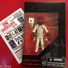 "Star Wars Black Series 3 3/4"" Admiral Ackbar NEW IN HAND"