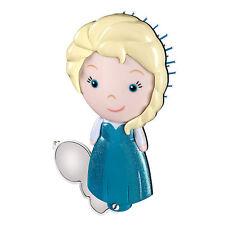 Disney Store Authentic Frozen Elsa Hair Brush & Olaf Mirror Set NWT