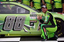 NASCAR SUPERSTAR DALE EARNHARDT JR WINS POLE AT TALLADEGA  8X10 PHOTO W/BORDERS