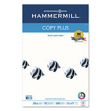 Hammermill Copy Plus Copy Paper 92 Brightness 20lb 11 x 17 White 500 Sheets/Ream