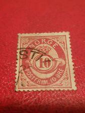 10 ore postfrim briefmarke norge