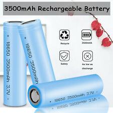 10PCS 3.7V 3500mAh Powerful Li-ion Batteries INR18650 Rechargeable Battery Flat