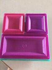Tupperware Dip Tray 7 Piece Set Multi Color