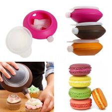 Silicone Macaron Baking Pastry Cream Cake Muffin Decorating Pen 3 Nozzle Kit SET