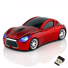 Wireless Car Shape Mouse 2.4Ghz USB Optical Mice with LED Flashing Light Gift
