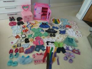 Build A Bear Bundle With Wardrobe, Clothes, Shoes And Accessories