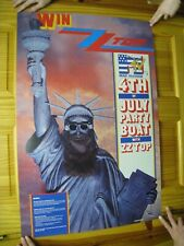 Zz Top Poster Zztop 4th Of July Party Boat Statue Of Liberty
