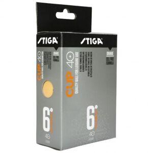 Table Tennis Balls: Stiga Cup Plastic Orange x 6 Pack (6 Balls per purchase)