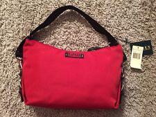 Lauren By Ralph Lauren Handbag/Purse Red & Black (779SHO Red)