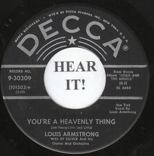 Louis Armstrong JAZZ (Decca 30309) You're a Heavenly Thing/The Prisoner's  M-