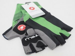 New! Castelli Aero Race Half Finger Cycling Gloves Black/Green XS Cannondale