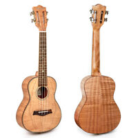 "Kmise Tiger Flame Classical Guitar Head Concert Ukulele Uke Hawaii Guitar 23"""