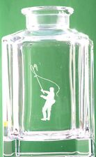 Fly Fisherman Crystal Decanter Glass Fishing Gift Boxed FREE POSTAGE