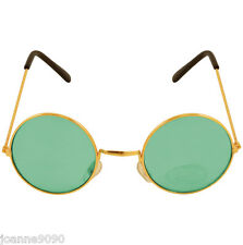 Green Ozzy Hippie Hippy 60s 1970s Round Lennon Specs Fancy Dress Costume Glasses
