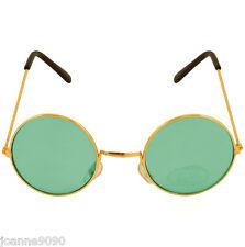 Verde Ozzy Hippy 60s 1970s Redondo Lennon Espf. Disfraz Gafas
