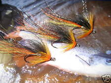 3 V Fly Size 7 Ultimate Alta Gold Nordic Cascade Gold Double Salmon Flies