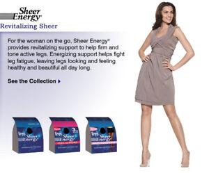 Leggs Sheer Energy Pantyhose & Knee High Selection