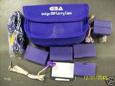 GBA Indigo 2 or 4 way Link Cable Battery Pack AC Earphone Gameboy Advance Case