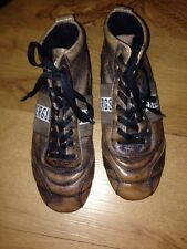 Bikkembergs Brown Leather Trainer Boots Rubber Soles Size 5 *C1