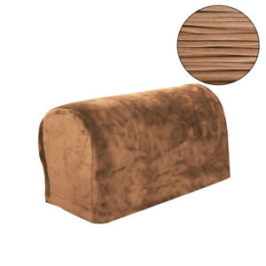 1 Pair Velvet Armrest Sofa Covers Arm Slipcover Stretch Chair Couch Protector