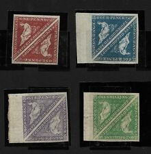 CAPE OF GOOD HOPE 1863 DE LA RUE ISSUE SG18/21 IN VF MNH PAIRS ALL SIGNED