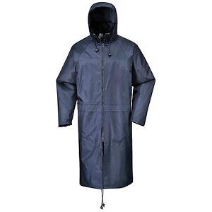PORTWEST S438 WATERPROOF RAIN JACKET COAT MAC NAVY BLUE S M L XL XXL 3XL