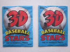 2 Topps 3-D Baseball Stars Sealed Packs 1985 Oddball item Nr Mt