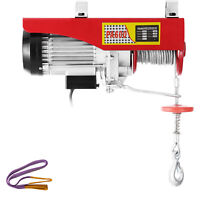 Electric Hoist Electric Winch 600kg with 15m Wire Rope and Remote Control