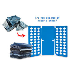 USA Clothes Folder Folding Board Laundry Organizer Adult T Shirt Fast Fold Flip