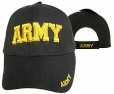 U.S. Army Gold Letters Black Embroidered Cap Hat 601DG