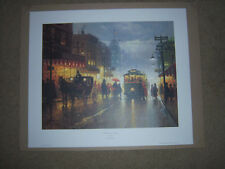 """BEAUTIFUL RARE LIMITED EDITION """"THE BROADWAY TROLLY"""" G HARVEY 1992 PRINT"""