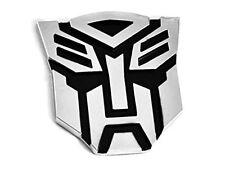 Transformers Autobot BADGE auto Emblema Adesivo Cromato 3D