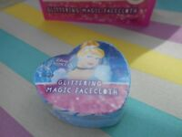 Glittery Disney Princess Cinderella Magic Expandable Flannel Face Cloth Gift