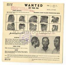 James Bradley - Rape - FBI Wanted Circular - Baltimore, MD - 1952