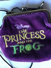 Disney Princess And The Frog Purple VELVET/VELOUR Coin Purse - Girls Small Bag