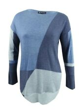 INC International Concepts Women's Colorblocked Sweater (XL, Inkberry)