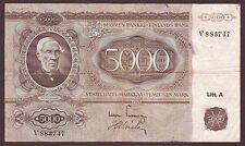 FINLAND  5000 Markkaa  1945  Litt. A   Scarce