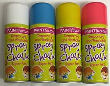 Set Of 4 Spray Chalk-Outside Pavement Wedding Car Party Decoration 200ml