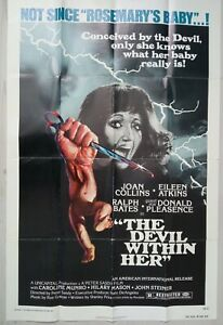 C101 Movie Poster THE DEVIL WITHIN HER Joan Collins / Eileen Atkins 1976