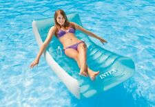 Intex Inflatable Rockin' Lounge Used Swimming Pool Raft Chair with Cupholder EUC