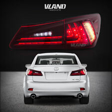Fit For Lexus IS250/IS350 2006-2008 Tail lights LED Red Lens Rear Lamp Assembly