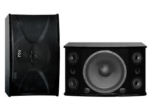 NEW Better Music Builder CS-612 G3 Professional 600W Karaoke Speakers(Pair)