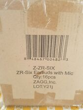 Whole case brand New! ZAGG ZR SIX Earbuds Headphones HIFI  Seller Factory Sealed