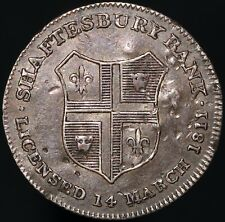 More details for 1811 | dorsetshire shaftesbury sixpence token | silver | tokens | km coins