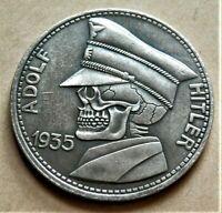 WW2 GERMAN COLLECTORS HOBO COIN 1935 ADOLF HITLER 5 RM