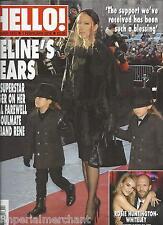 Hello magazine Celine Dion Rosie Huntington Whiteley Emma Thompson David Lloyd
