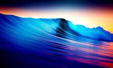Incorniciato stampa-Multi Colore Ocean Wave (Neon PICTURE SCENIC SPIAGGIA MARE POSTER)